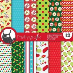Christmas baking papers