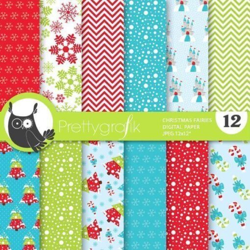 Christmas fairies papers