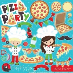 Pizza party clipart