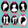Wedding silhouette clipart