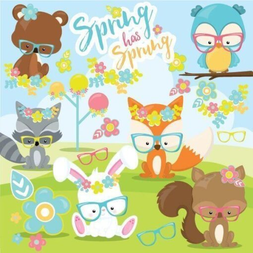 Spring animals clipart