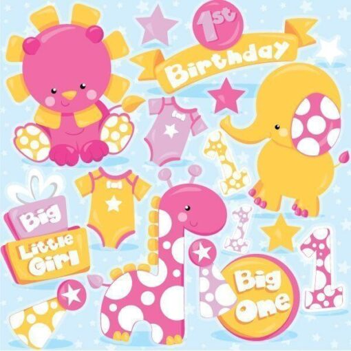First birthday clipart