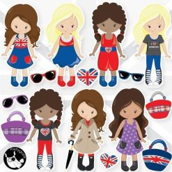 London girls clipart