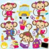 Monkey school clipart