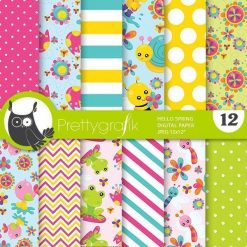 Spring animals papers
