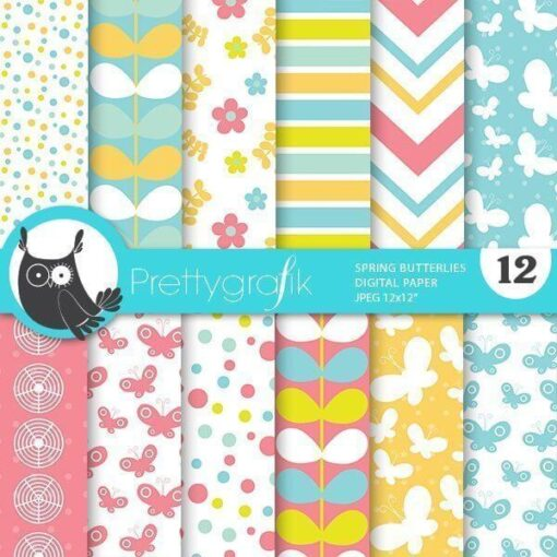 Spring butterfly papers