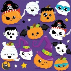 Pumpkin costume clipart