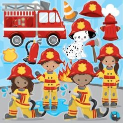 Firefighter clipart