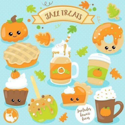 Fall treats clipart