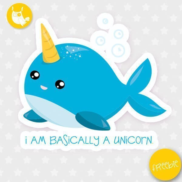 Sea unicorn Freebie