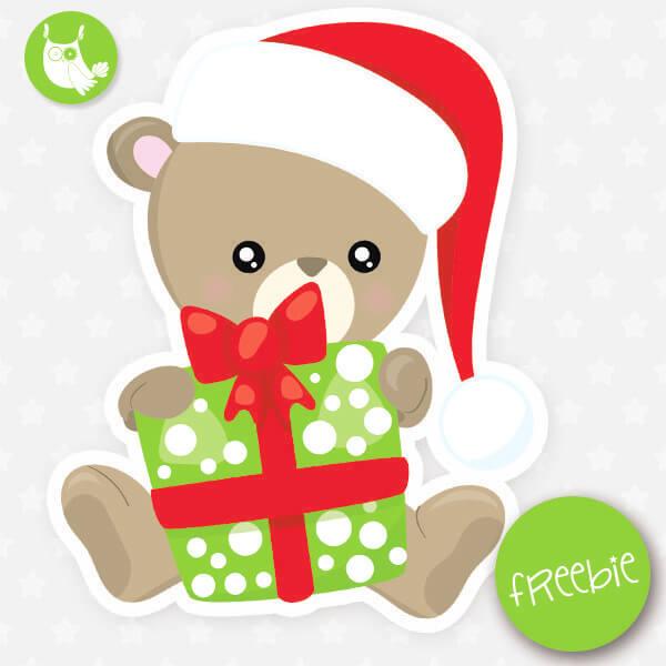 Christmas bear Freebie