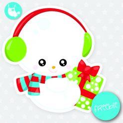 Christmas snowman Freebie