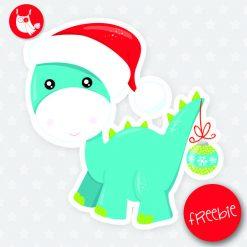Christmas dinosaur Freebie