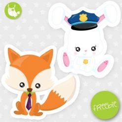 Fox and bunny Freebie