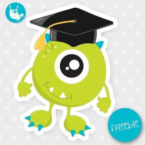 Graduation monster Freebie