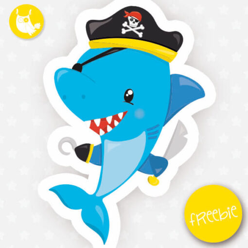 Pirate shark Freebie
