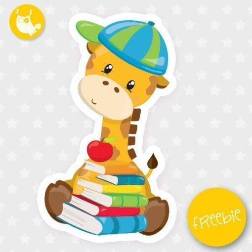 School giraffe Freebie