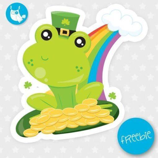 St-Patrick frog Freebie