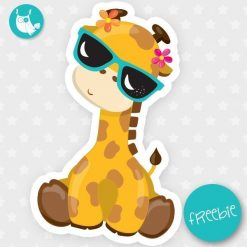Summer giraffe Freebie