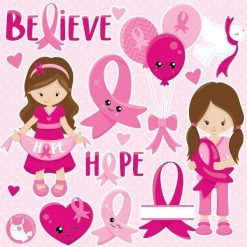 Breast cancer clipart