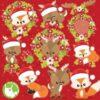 Christmas animals clipart