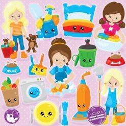 Chore girls clipart