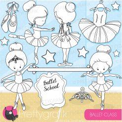 Ballet studio stamps