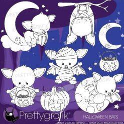 Halloween bat stamps
