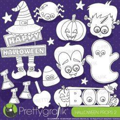 Halloween prop stamps