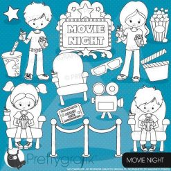 Movie night stamps