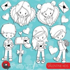 Valentine kids stamps