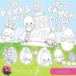 Easter chick stamps