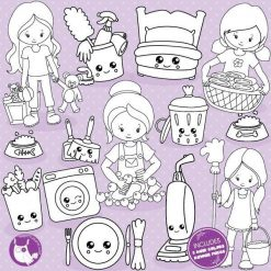 Chore girls stamps