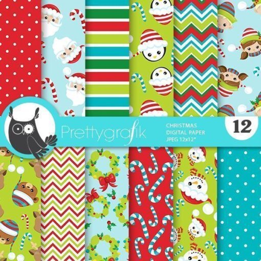Christmas characters papers