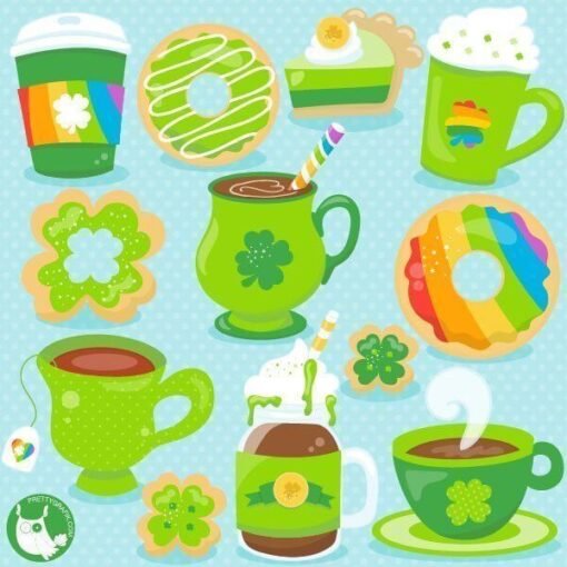 St-Patrick's coffee clipart