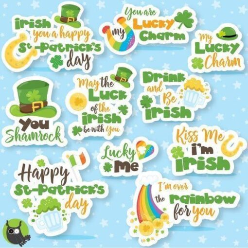 St-Patrick's word clipart