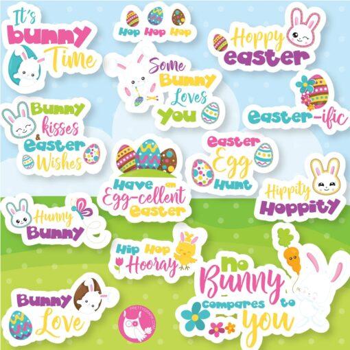 Easter word art clipart