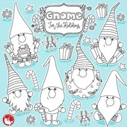 Christmas gnome stamps