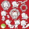 Christmas animals stamps