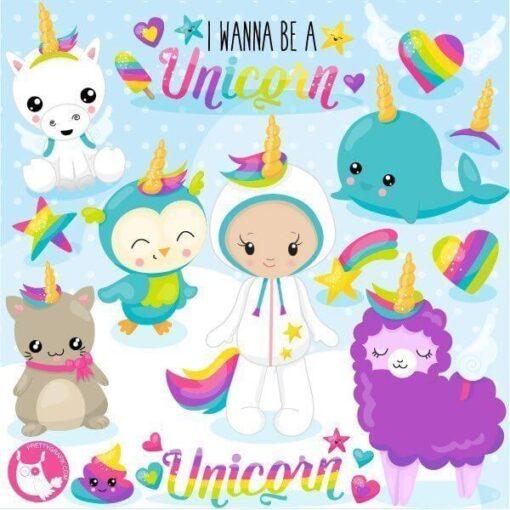 Wanna unicorn clipart
