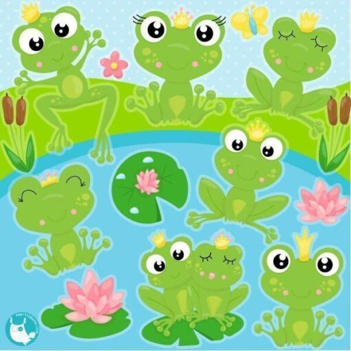 Frog prince clipart