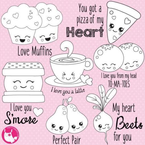 Valentine pair stamps