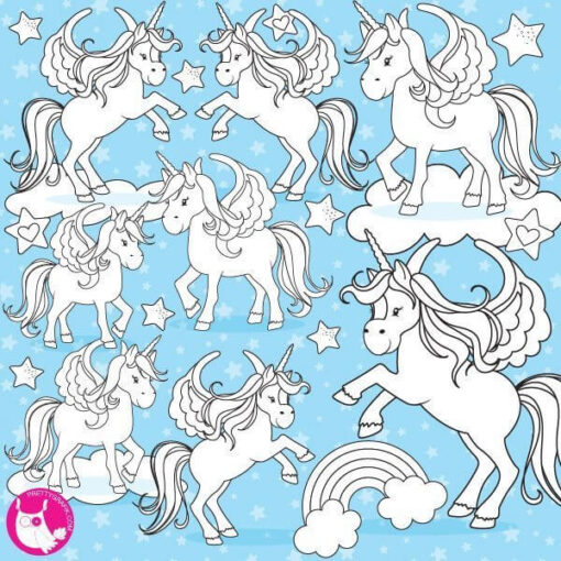 Unicorn stamps
