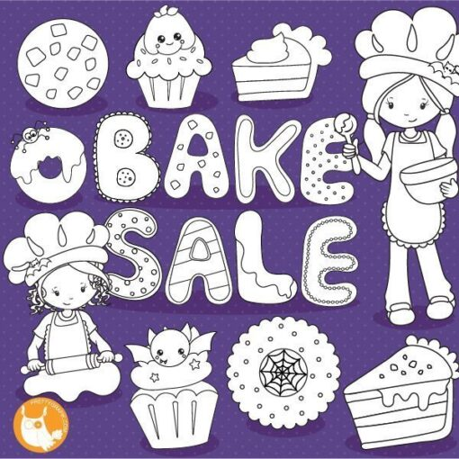 Bake sale stamps
