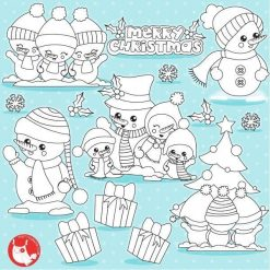 Christmas snowmen stamps