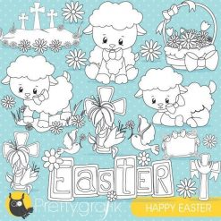 Easter lamb stamps