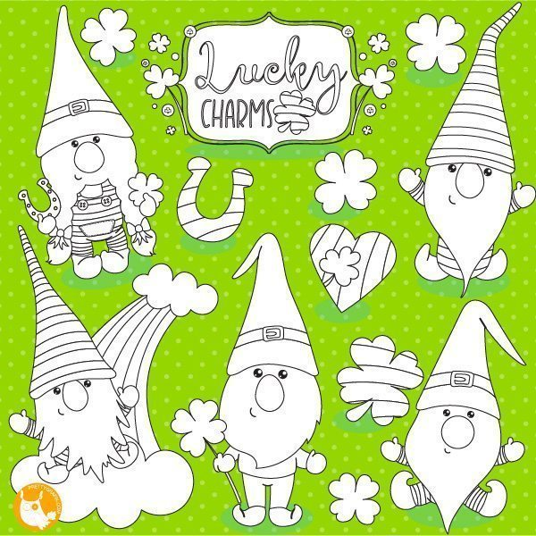 St-Patrick's gnome stamps