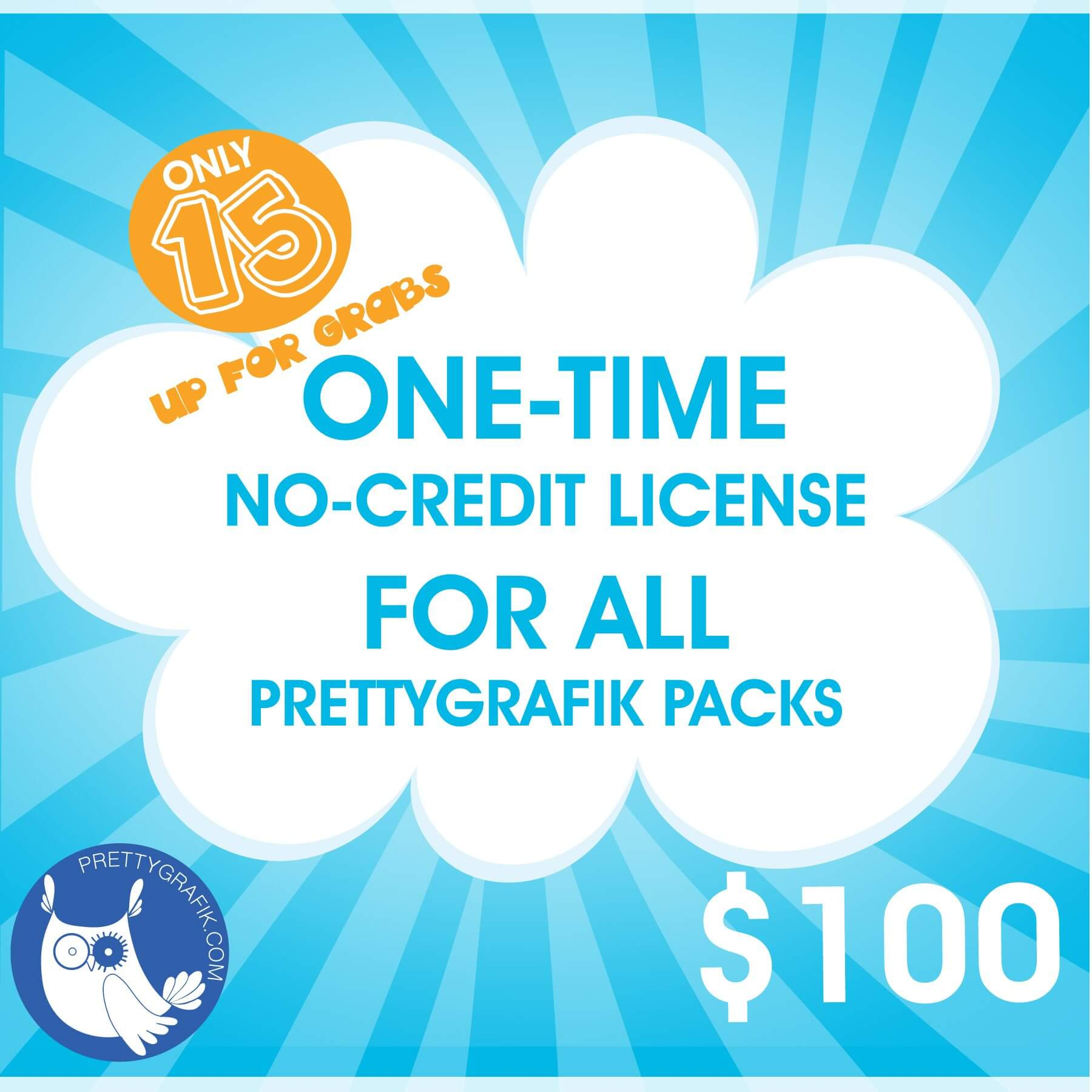 ONE Time No Credit License For All Packs