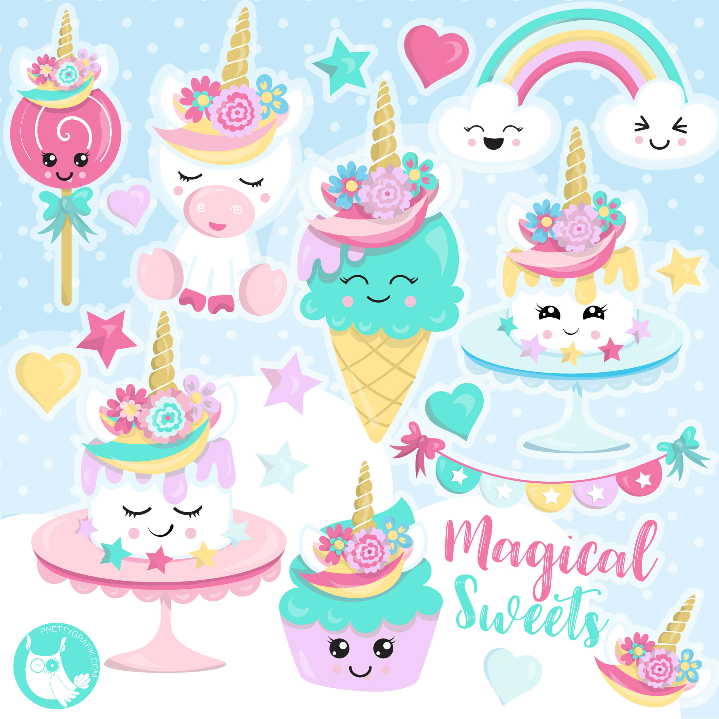 unicorn sweets clipart prettygrafik store rh prettygrafik com sweets clipart black and white sweet clip art images