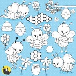 bee digital stamps